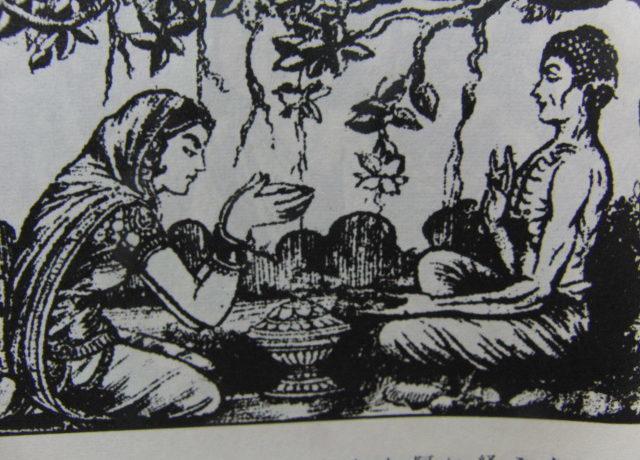 信者の供養を受けられるブッダ