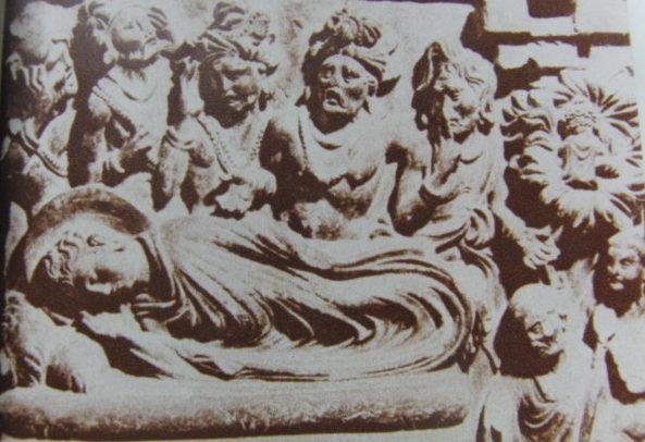 釈迦涅槃像(釈迦の死を悲しむ人々)